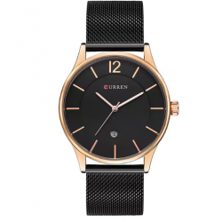 Analog Golden & Black Dial Mens's Watch AW-68