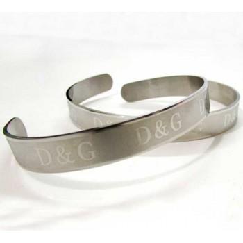D & G Silver Opening Bracelet (B-39)